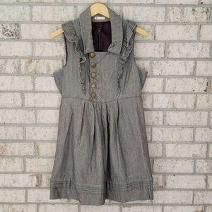 Tulle Herringbone Ruffle Dress